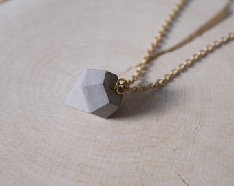 Diamond necklace pendant of classic with concrete real Sterling Silver 925 Silver or gold