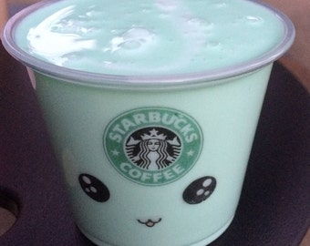 Starbucks Matcha Green Tea 5 oz. (140 g) Fluffy Slime Scented Slime Stress Relief, Therapy Tool Extras Included