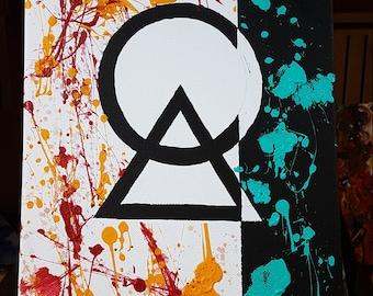 Geometric Chaos - Modern Art Acryl