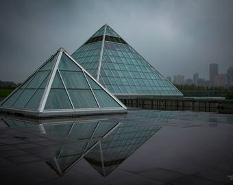 Green Pyramids Photo Print