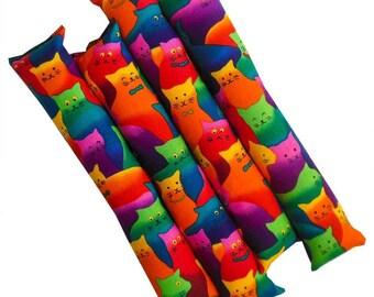12'' Handmade Organic Catnip Kicker Stick Cat Toy - One Kicker - Bright Kitties