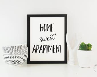 Home Sweet Apartment | Apartment Decor | New Apartment Gift | Apartment Poster| Apartment Art | Home Wall Decor | New Apartment Print