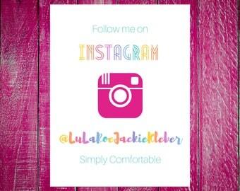 Follow Me On Instagram - LulaRoe