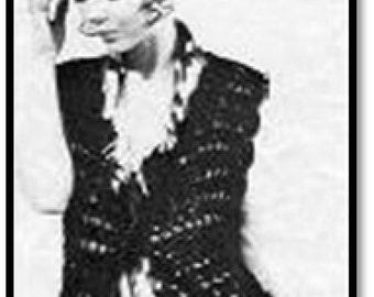 Long Gypsy Vest Pattern, Gypsy Crochet Pattern, Vintage Pattern, Retro