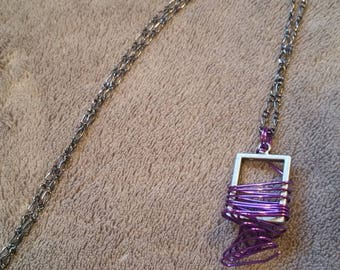 Purple Twist Necklace