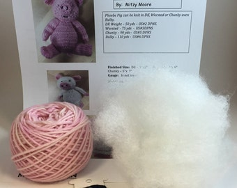 Phoebe Pig Knitting Kit