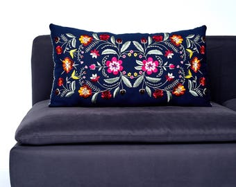 Isabel Floral Embroidery Pillow