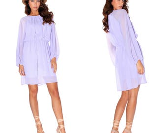 Lilac day dress, new
