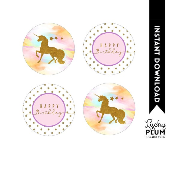 Superb image pertaining to unicorn cupcake toppers printable