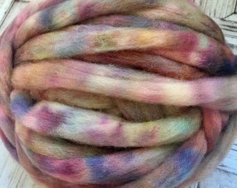 Elliebelly Merino Roving 4 oz. - Posy