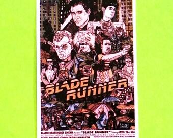 Blade Runner Movie Poster Arts Series Original Ridley Scott Harrison Ford Replicant Hunter Cult Classic Film Waterproof Vinyl Sticker
