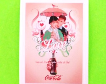 Coca Cola Love on the Coke Side of Life Vintage Advertising Style Vinyl Sticker