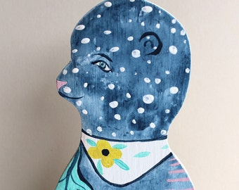 Blue Bear Dottie Painting cut out