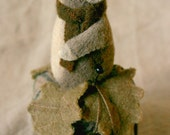 Mouse Droppings Primitive Folk Art - Handcrafted Sewing Collectible Wool Felt Mouse Doll Pincushion