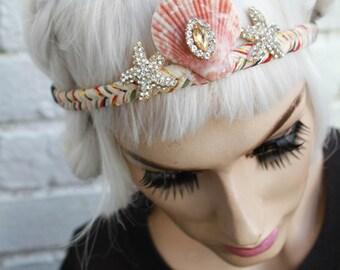 Mermaid Diamante' Starfish Shell Plaited Headband