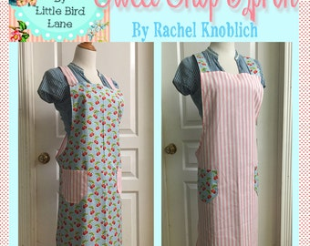 Instant Download the Sweet Shop Apron a Vintage Feedsack Style Crossback Apron
