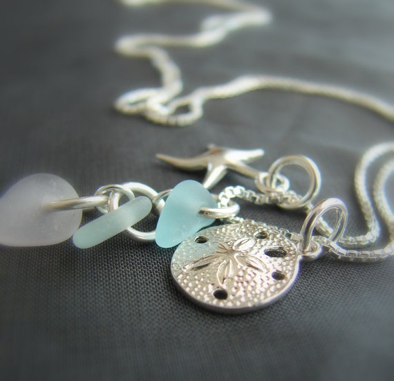 Ocean sea glass necklace