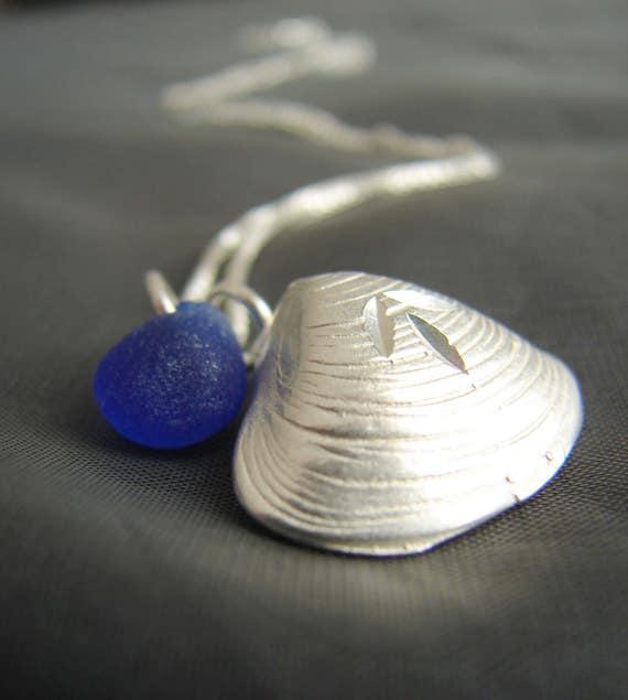 Little Sea Shell sea glass necklace