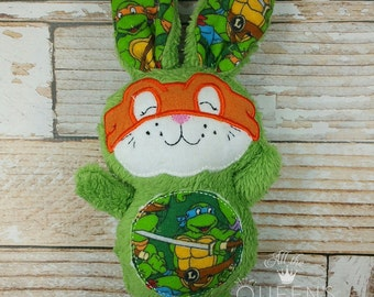 Ninja Bunny Rabbit Easter Softie Stuffie Plush 10-inch Stuffed Toy