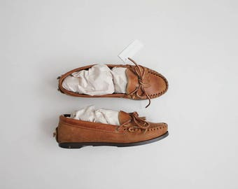tan leather loafers | leather loafers 9.5 | moccasin loafers