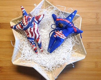 Patriotic Eagle  Star Ornaments July 4th Bowl Filler Independence Day Decorations