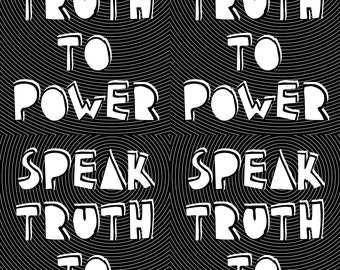 instant download postcard Speak Truth to Power quaker saying