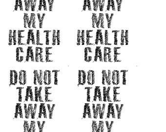 instant download postcard health care paul ryan obamacare aca political postcard protest resist