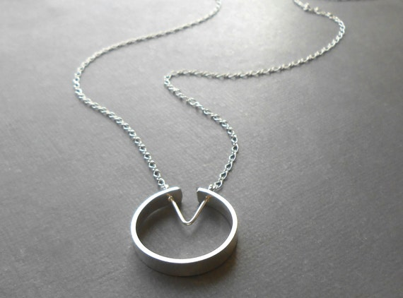 Minimal Sterling Silver Circle Necklace