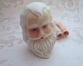 Vintage Doll Head, Porcelain Doll Parts, santa claus dolls, porcelain old man doll, Santa head, doll arms, painted doll parts, St Nick