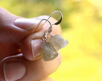 Raw Labradorite Earrings . Calming Jewelry Healing . Spectrolite Earrings . Gemstone Cluster Earrings - Sagittarius Collection