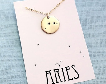 Aries Jewelry | Aries Necklace, Zodiac Jewelry, Zodiac Necklace, Constellation Necklace, Astrology Jewelry, Zodiac Sign Necklace, Zodiac