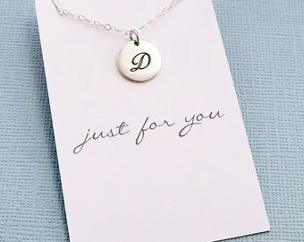 Cursive Charm Necklace | Monogram Initial Necklace, Personalized Necklace, Personalized Gift for Her, Personalized Name Necklace | X05