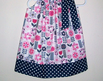 Pillowcase Dress Floral Dresses with Flowers Fantasy Flowers by Michael Miller Dress with Tulips and Daisies Summer Dresses Fall Dresses
