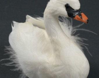 Stunning Wedding Baptism Christmas Winter White Swan Ornament Crafts Wreath