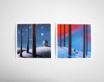 House Series Mini Print Set- 'The Frost' & 'Into The Woods' - Signed