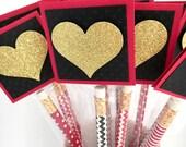 Kids School Valentines, Pencil Valentine Cards for Kids, Classroom Valentines, Personalized Valentine Pencil Cards, Valentine's Day Treats