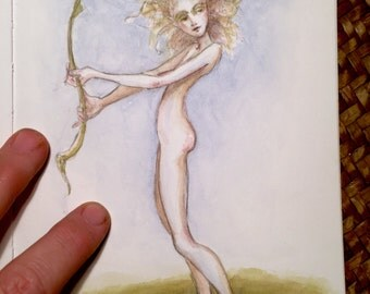Little leaf Fairy Original Painting by Renae Taylor