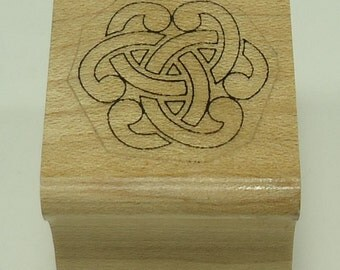 Celtic Knot Wood Mounted Rubber Stamp