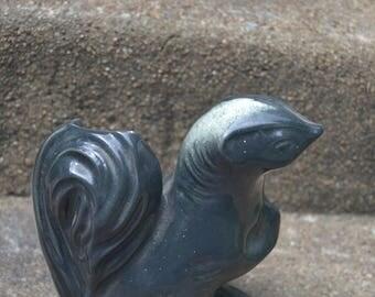 Vintage Mid Century Figural Skunk Vase