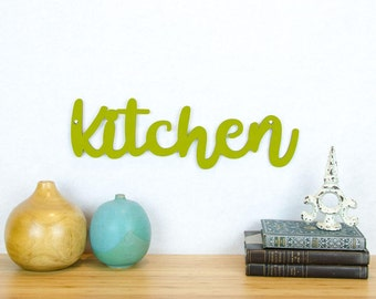 Kitchen Wood Sign, Kitchen Plaque, Chefs Sign, Wood Quote Sign, Cooks Sign, Funky Wood Sign, Wood Sign Decor, Wood Word Sign