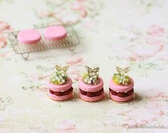Dollhouse Miniature Food - Spring Theme Macaron Patisserie 1:12 dollhouse miniature scale