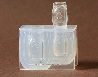 Dollhouse Miniature Mason Drinking Jar Silicone Mold