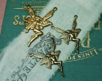 Vintage Fairie Stampings/Pendants Lot of 3 PCS.