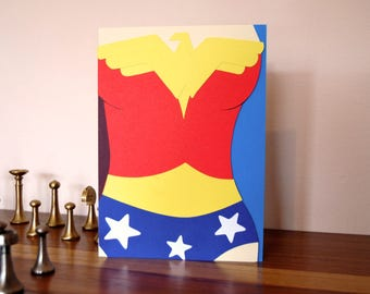 Wonder Woman Costume Card