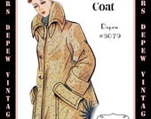 Vintage Sewing Pattern 1950s Box Coat in Any Size - PLUS Size Included - Depew 5079 -INSTANT DOWNLOAD-