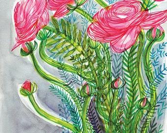 Bloom Botanical Patterns Wall Art Print Botanical