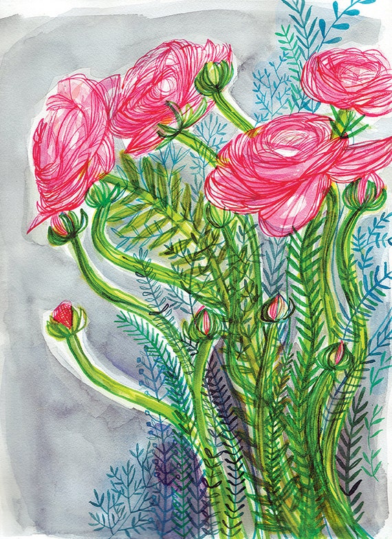 Bloom Botanical Patterns Archival Art Print