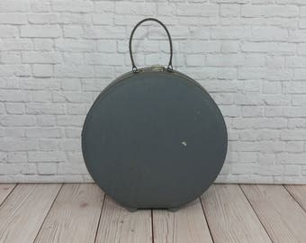 Vintage Round Grey American Tourister Suitcase Luggage
