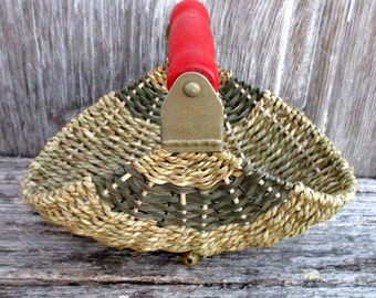 Pastry Blender Basket with Red Handle and Gray Accents
