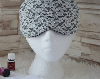 Lace & Black Eye Mask for Sleep, Travel, etc. ~ READY TO SHIP for Brides, Teachers, Friends, Birthdays, All Occasion Gifts